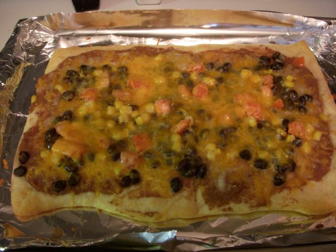 Baked Mexican Pizza